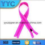 5# Long rosso-chiaro Nylon Zipper per Sportswear