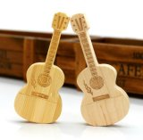 Memória creativa de bambu/de madeira do USB da guitarra