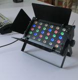 éclairage d'étape du pouvoir DEL de 24PCS 3W RGBW avec le Barndoor
