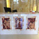 Painel de parede de mármore do PVC da prova da água para a decoração interior