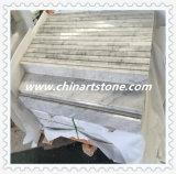 中国白の黒のベージュ大理石の床タイル