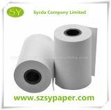 Roulis de papier thermosensible d'utilisation de côté de machine de position