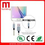 Cobrar do cabo do USB do micro e transferência de dados trançadas de nylon para o Android