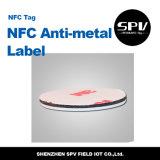 Hf 13.56MHz Ntag216 de papel do Tag do Anti-Metal de Nfc