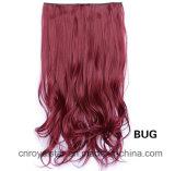 Clip chaud sur le clip de cheveu synthétique de clips de la prolonge cinq de cheveu