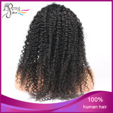 Parrucca brasiliana non trattata riccia crespa della parte anteriore del merletto dei capelli del Virgin