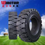 중국 회전 돌 500-8 제동자 단단한 Linde 포크리프트 타이어 5.00-8