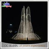 Luz ao ar livre da fonte da decoração do jardim do diodo emissor de luz do Natal do aço inoxidável