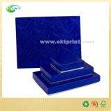 Rectángulos de papel de la joyería de encargo de gama alta que empaquetan el rectángulo de regalo, ropa que empaqueta el rectángulo con las tapas (CKT-BK-015)