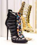 Chaussures sexy de femmes de santal de talon haut de laçage de mode