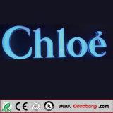 Signes fixés au mur extérieurs populaires de lettre lumineux par LED d'acier inoxydable de Customed
