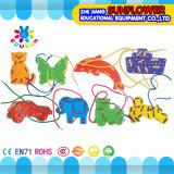 Kind-Plastiktischplattenspielzeug-Kombinations-Abnützung-Zeile Blöcke