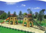 Patio al aire libre de gran tamaño de madera de Kaiqi para las atracciones del viaje