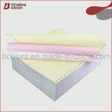 3ply papier continu autocopiant Papier d'impression Ordinateur avec Punch et Perforation
