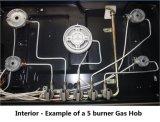 Construido en el tipo avellanador del gas con cinco hornillas (GH-S915C)
