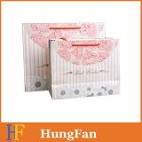 Bolsa de papel de la alta calidad del estilo de la vendimia con la cinta