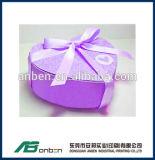 Rectángulo en forma de corazón de tarjeta del día de San Valentín regalo de papel feliz del día del mini con la cinta