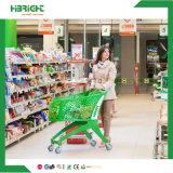 Maagdelijke pp Al Plastic Karretje van het Boodschappenwagentje van de Hand van de Supermarkt