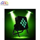 Luz con pilas ULTRAVIOLETA de la IGUALDAD de la radio 6in1 LED de la marca de fábrica 9PCS*18W Rgbaw