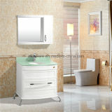 새로운 화장실 지면 독립 구조로 서있는 PVC 목욕탕 내각