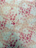 Polyester 100% Elastic Printing Fabric Lining (mit White Flowers)
