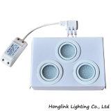 1.6W la cabina interior ahuecada redonda LED de los muebles de la lámpara LED abajo se enciende