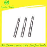 Fresa de aluminio profesional de extremo del carburo de tungsteno de la fabricación