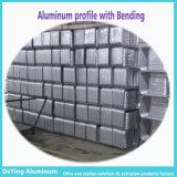 Perfil de alumínio com perfuração de furo de dobra para a caixa do trole