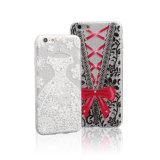 Caixa do telefone móvel da tampa TPU do Glitter da prata da alta qualidade para iPhone6