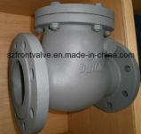 O aço de molde flangeou válvula de verificação do balanço