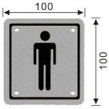 Знак ванной комнаты нержавеющей стали квадратный (141, 142, 143, 144)