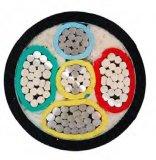 Câble d'alimentation à haute tension isolé par PVC en aluminium à plusieurs noyaux 0.6/1kv de faisceau