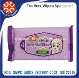I Wipes naturali di cura del bambino hanno bagnato i tovaglioli