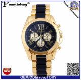 Yxl-772 pulsera de silicona cronógrafo reloj de acero inoxidable mujer reloj señoras relojes