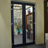 Porte en bois en aluminium du tissu pour rideaux Kz207 avec le blocage multi