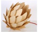 Iluminação de bambu de madeira do pendente da alcachofra