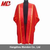Robe doctorale de luxe faite sur commande de graduation