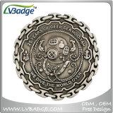 Pièce de monnaie faite sur commande d'enjeu de souvenir d'approvisionnement avec le modèle votre propre logo
