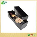 Caixa de empacotamento do vinho vermelho do frasco do cartão 750ml da impressão Offset com tampas (CKT-PB-29)