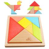 다채로운 Tangram Intellectual Jigsaw #14*14cm Beech#