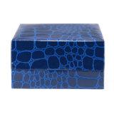 Caja de empaquetado CB-042 del azul de la PU del regalo de cuero de gama alta de las mancuernas