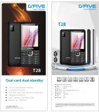 Telefone de pilha do telefone móvel do telefone da caraterística de Gfive T28 2.8inch