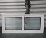 Guichet de glissement en aluminium de profil en aluminium enduit de poudre avec l'écran fixe Kz280 de moustique d'acier inoxydable
