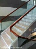 Manera simple todo vidrio Baranda de escalera barandilla de madera