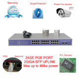24-Port Giga Managed Poe Passare Support 802. Af / a di alimentazione per telecamera IP e Wireless Ap (TS2624GM)
