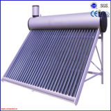 Non intégrée chaufferette d'eau chaude solaire d'acier inoxydable de pression