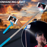 Selfieのための懐中電燈との極度の小型携帯用Monopod