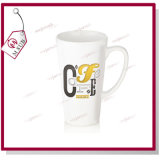 17oz Plain Sublimation White Ceramic Latte v Shape Mug