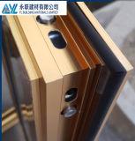 Fenêtre en aluminium de tissu pour rideaux d'extrusion électrophorétique d'or