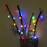 Énergie solaire 5m lampe imperméable à l'eau de quirlande électrique de chaîne de caractères de 20 boules de cristal DEL pour la décoration de jardin de mariage d'usager de festival de Noël
